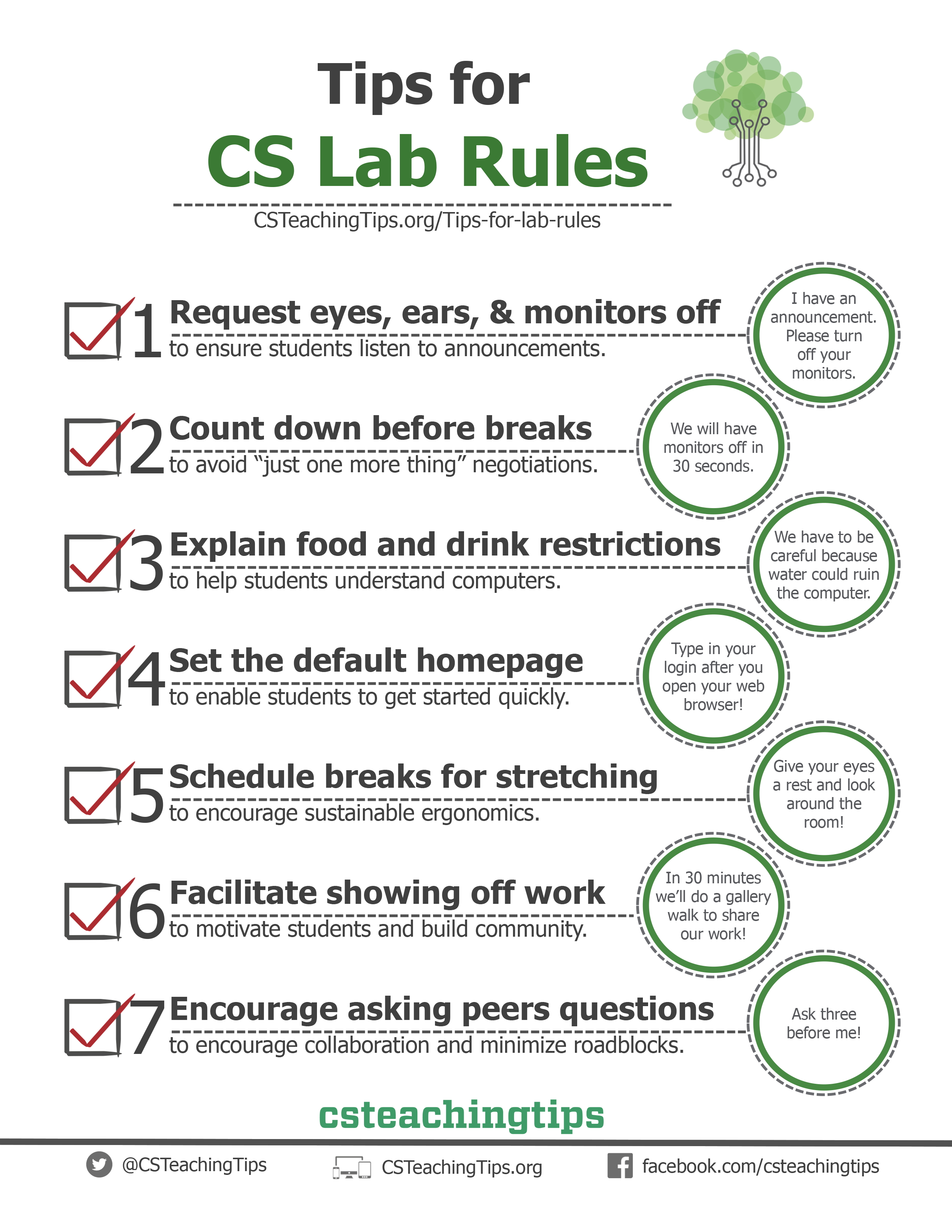Tips for Computer Lab Rules