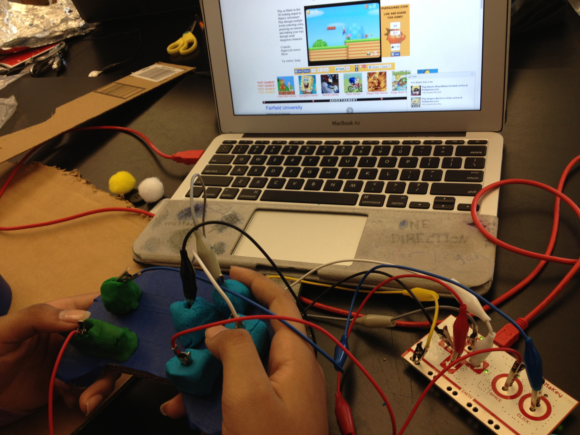 Photo of a video game controller made by Dylan Ryder's students
