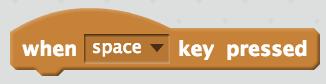 When space key pressed Scratch block