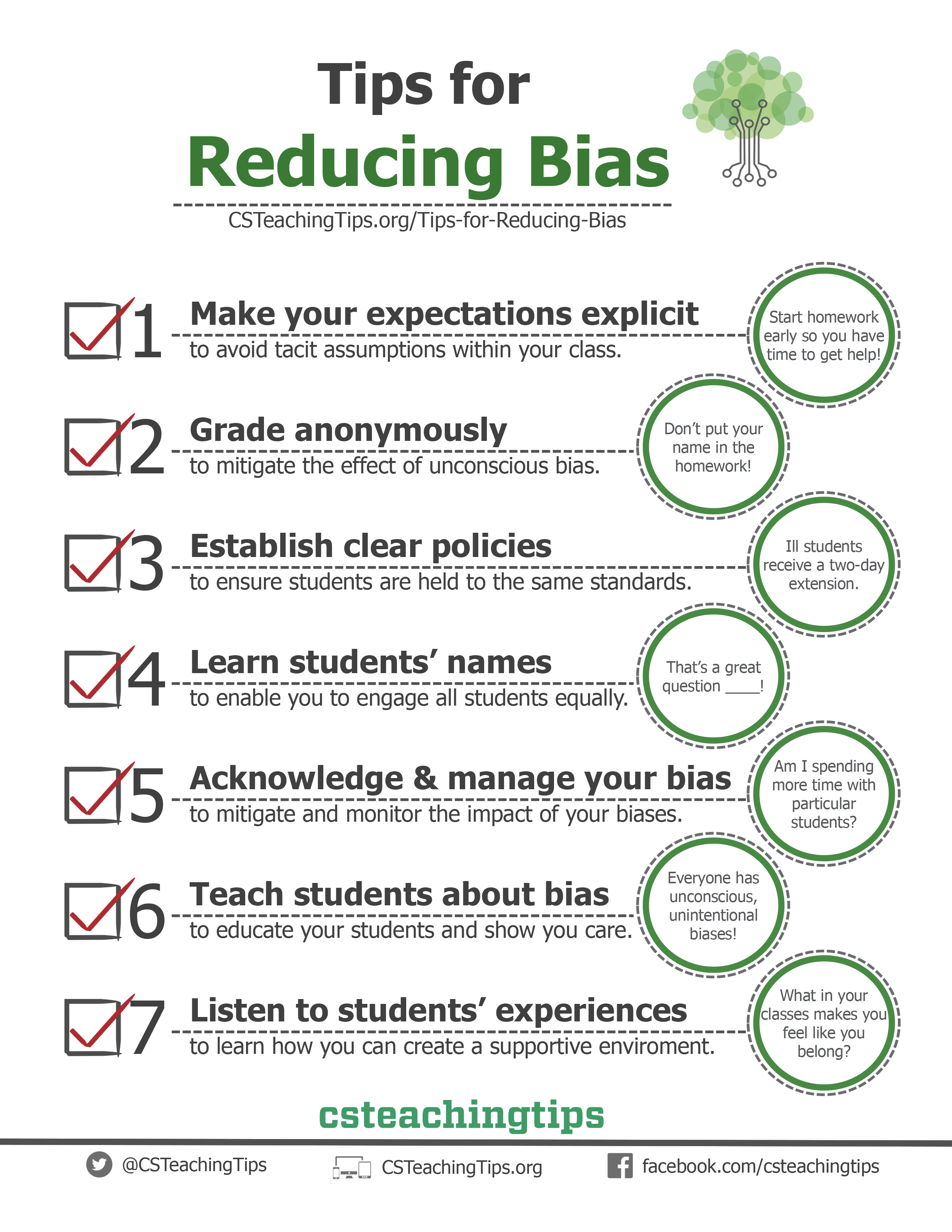 Tips for Reducing Bias
