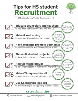 Tips for HS Student Recruitment